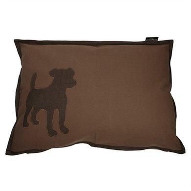 Lex&max Hoes Voor Hondenkussen Dog Taupe 100x70cm