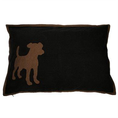 Lex&max Hoes Voor Hondenkussen Dog Zwart 100x70cm