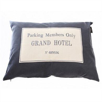 Lex&max Hoes Hondenkussen Grand Hotel Antraciet 100x70cm
