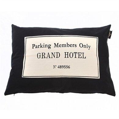Lex&max Hoes Voor Hondenkussen Grand Hotel Zwart 100x70cm