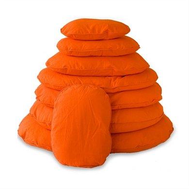 Lex&max Hoes Voor Hondenkussen Ovaal Tivoli Oranje 115cm