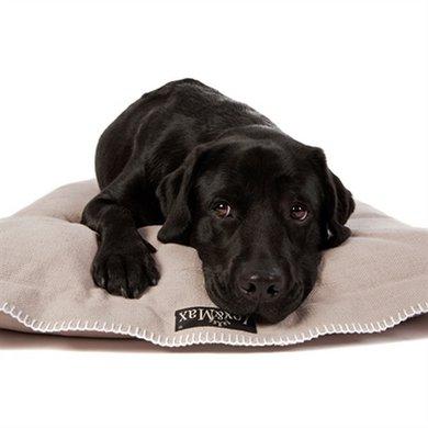 Lex&max Hoes Voor Hondenkussen Raw Uni Kiezel 100x70cm