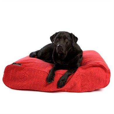Lex&max Hoes Voor Hondenkussen Ligzak Chic Rood 90x60x21cm