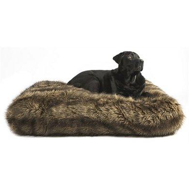 Lex&max Hoes Hondenkussen Ligzak Royal Fur Wolf 90x60x21cm