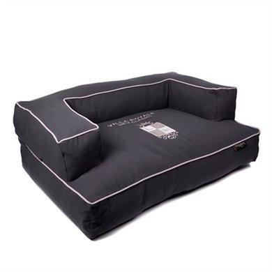 Lex&max Hondenmand Sofa New Classic Antraciet 100x70x35cm