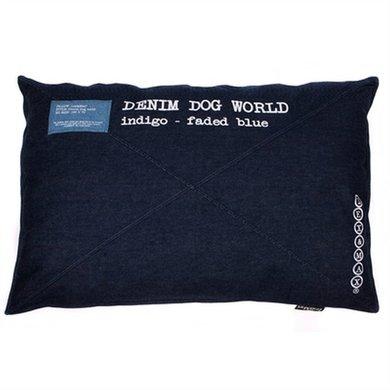 Lex&max Hondenkussen Denim Dog World Indigo 100x70cm