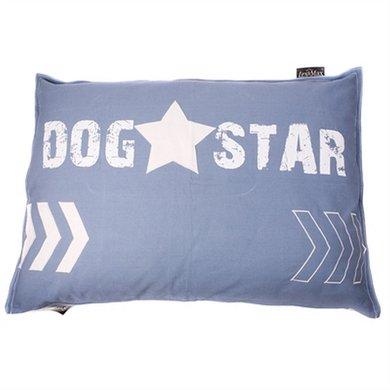 Lex&max Hondenkussen Dogstar Faded Blauw 100x70cm