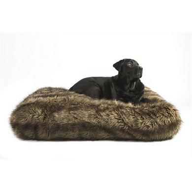 Lex&max Hondenkussen Ligzak Royal Fur Wolf 90x60x21cm