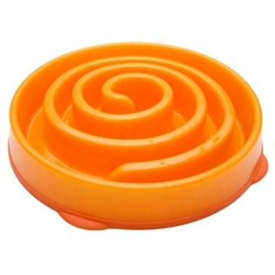 Slo-bowl Feeder Mini Coral Spiraal Oranje 22x22x5cm