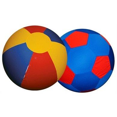 Jolly Mega Ball Cover Rood/Geel/Blauw 100cm