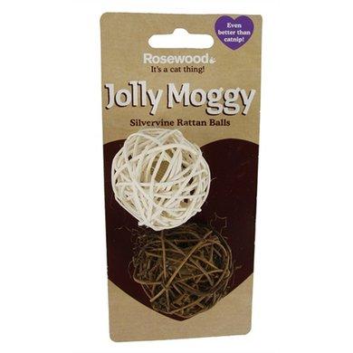 Jolly Moggy Silvervine Ballen Rattan 2 St