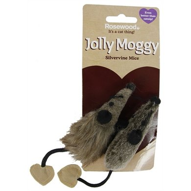 Jolly Moggy Silvervine Muis 2 St