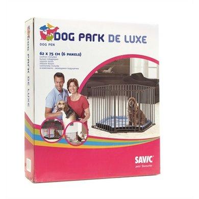 Savic Dog Park De Luxe Hondenren Grijs 77.5x67x18.5cm