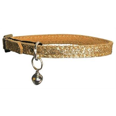Bobby Kattenhalsband Glitter Goud 30x1cm
