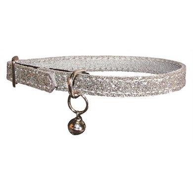 Bobby Kattenhalsband Glitter Grijs 30x1cm
