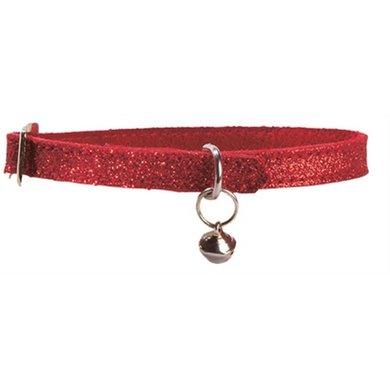 Bobby Kattenhalsband Glitter Rood 30x1cm