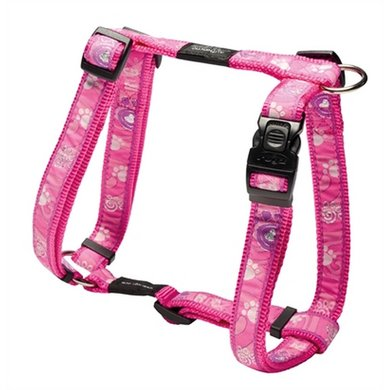 Rogz For Dogs Beach Bum Tuig Pink Paw 20mm 44-74cm