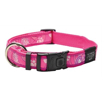 Rogz For Dogs Armed Response Halsband Pink Paw 25mm 43-73cm