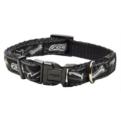 Rogz For Dogs Jellybean Halsband Black Bone 11mm 20-32cm