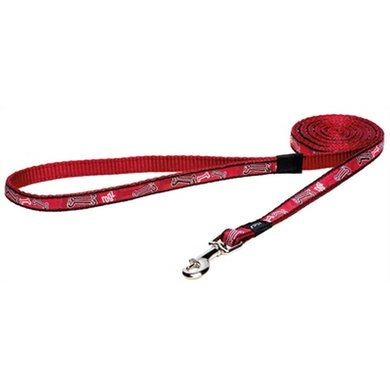 Rogz For Dogs Scooter Hondenriem Red Rogz Bone 16mm 1.4m