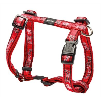 Rogz For Dogs Scooter Tuig Red Rogz Bone 16mm 32-54cm