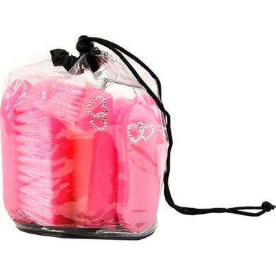 Hb Poetsset Cristal Glitter Neon 6-delig Roze