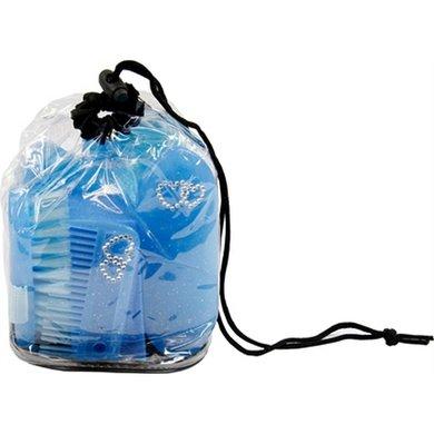 Hb Poetsset Cristal Glitter Neon 6-delig Blauw