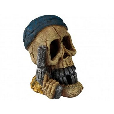Aqua Della Aquarium Ornam Pirateskull Pistol 15.5x12x19.5cm