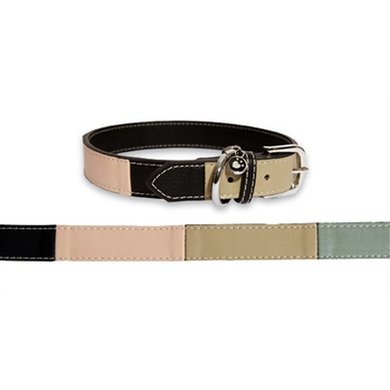 Rosewood Luxury Leather Halsband Threetone 30-40.5x1.9cm