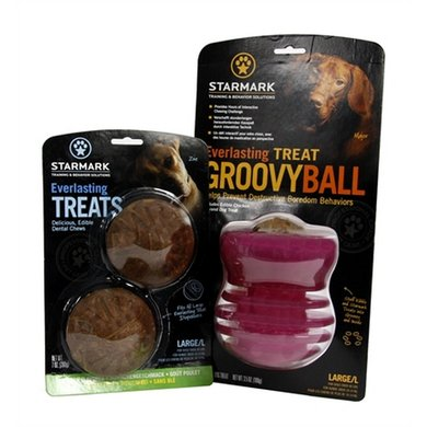 Starmark Everlasting Groovy Ball Voerbal Treat Veggie Large