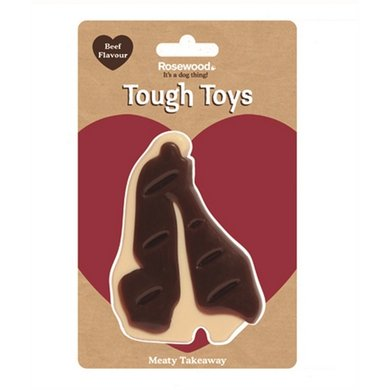 Rosewood Tough Toys Meaty Beef Takeaway Steak 13cm