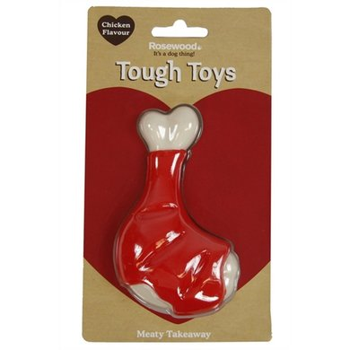 Rosewood Tough Toys Meaty Chicken Takeaway Leg 13cm
