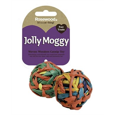 Jolly Moggy Woven Wonders String Ball Assorti