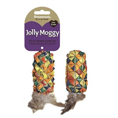 Jolly Moggy Woven Wonders Feather Roller Assorti