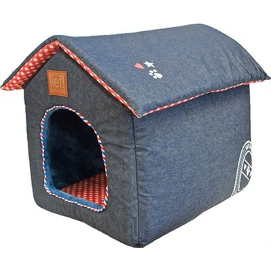 Lief! Hondenmand/Kattenmand Huis Unisex Jeans 45x35x42cm