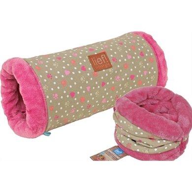Lief! Speeltunnel Kat Girls Beige/Roze 50cm