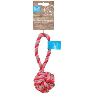 Lief! Hondenspeelgoed Flossbal Girls Roze/Wit 19cm
