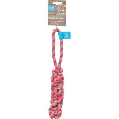 Lief! Hondenspeelgoed Flosstick Girls Roze/Wit 32cm