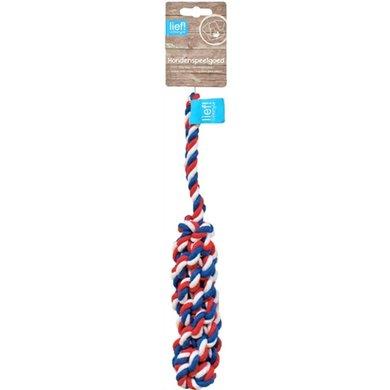 Lief! Hondenspeelgoed Flosstick Unisex Rood/wit/Blauw 32cm