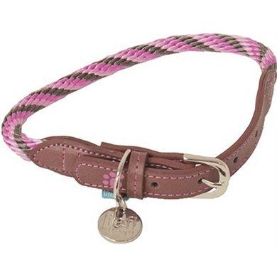 Lief! Halsband Girls Beige/Roze 37x0.8cm