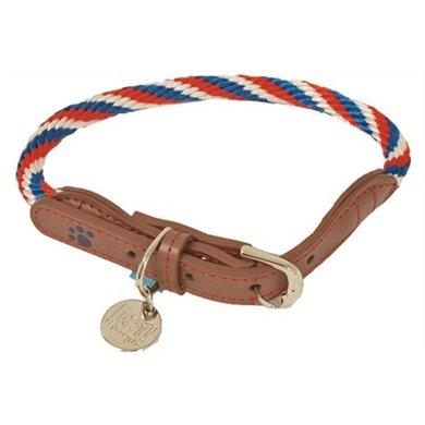 Lief! Halsband Unisex Blauw/Rood 30x0.8cm