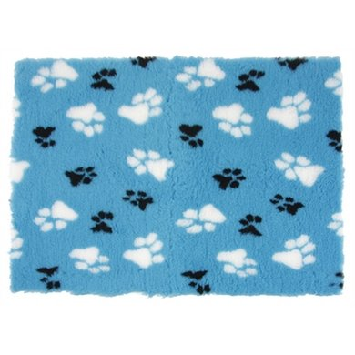 Vetbed Hondenmat Blauw Poot Print 100x70cm