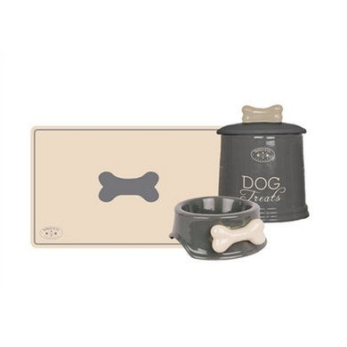 Banbury  Co Giftset Hond Placemat/voerbak/voorraadpot Kera