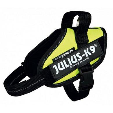 Julius K9 Idc Harnas/Tuig Neon Geel Minimini/40-53cm