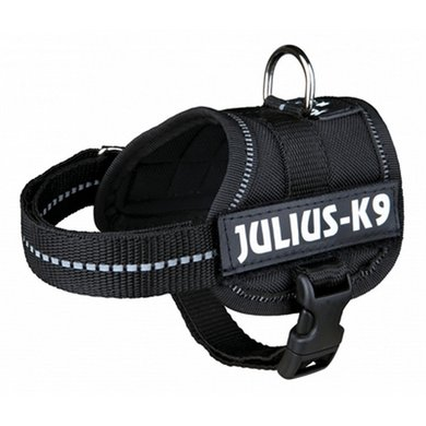 Julius K9 Power-harnas/tuig Labels Zwart Baby 1/30-40cm