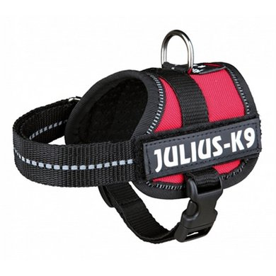 Julius K9 Power-harnas/tuig Labels Rood Baby 1/30-40cm