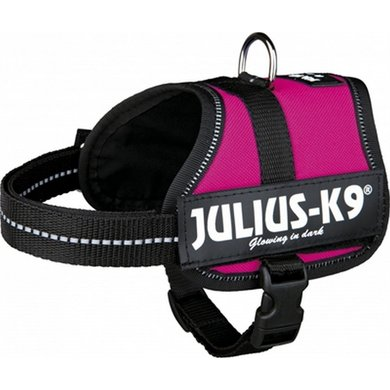 Julius K9 Power-harnas/tuig Labels Fuchsia Baby 2/33-45cm