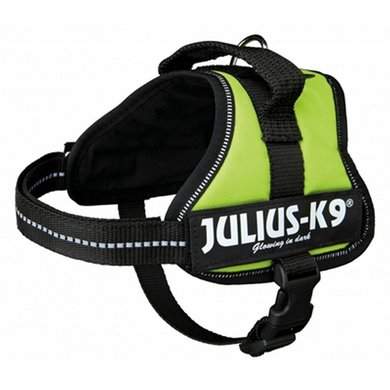 Julius K9 Power-harnas/tuig Labels Lime Minimini/40-53cm