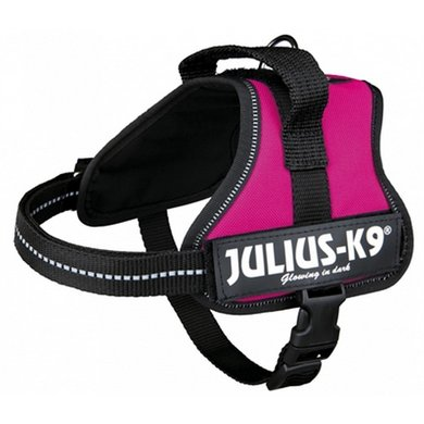 Julius K9 Power-harnas/tuig Labels Fuchsia Minimini/40-53cm