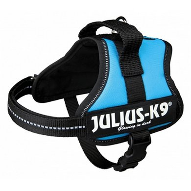 Julius K9 Power-harnas/tuig Labels LichtBlauw Mini/40-53cm